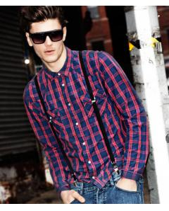 Red-Blue Checked Shirt-demo
