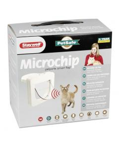 Petporte cat flap with microchip