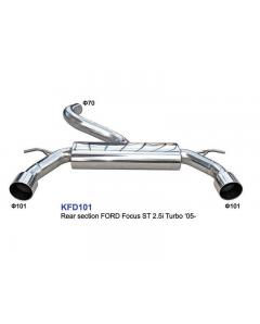 Ford Focus ST 2.5i Τούρμπο 05- Stainless steel Rear exhaust muffler