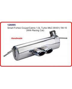Smart ForTwo Coupe, Cabrio 451 08-10 1.0L Turbo Stainless steel Rear Exhaust Muffler Brabus Style