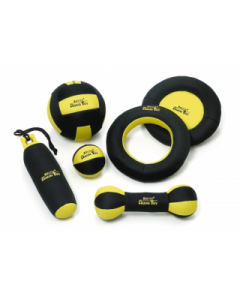 Aqua neoprene  black-yellow dumbbell 28cm