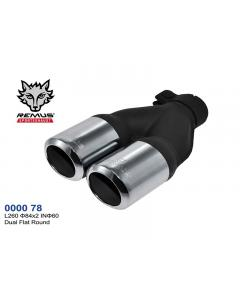 REMUS Exhaust Tip Dual 2x84 L260 ID60