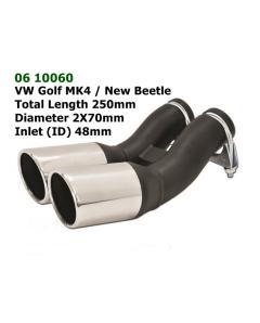 Universal Stainless Steel Exhaust Tip VW New Beetle Style 70mm