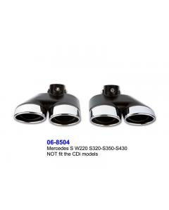 Mercedes S Class W220 S320S350S430 Exhaust Tips Dual Oval Set