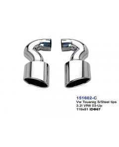 VW Touareg Stainless Steel Exhaust Tip Set