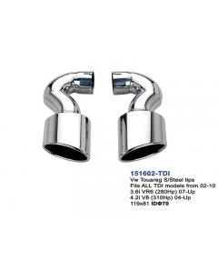 VW Touareg TDi Stainless Steel Exhaust Tip IN70 Set