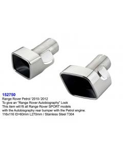 Range Rover Sport Stainless Steel Exhaust Tips L270 ID60 116x116 Set