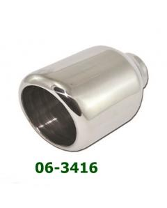 Universal Stainless Steel Exhaust Tip Round D115 L190 IN60