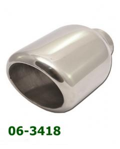 Universal Stainless Steel Exhaust Tip Slant Oval 120x115 L190 IN60