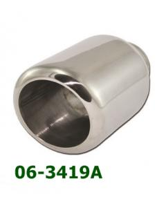 Universal Stainless Steel Exhaust Tip Round Slant D101 L190 IN60