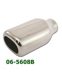 Universal Stainless Steel Exhaust Tip Square 90x80 L190 IN50