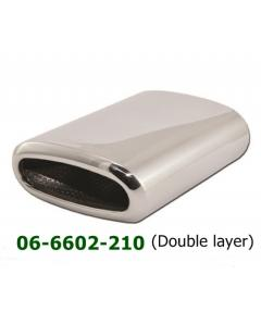 Universal Stainless Steel Exhaust Tip Oval 155x75 L210 Single Layer