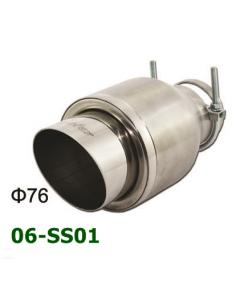 Universal Stainless Steel Exhaust Tip Round 76mm D101 L190 IN60