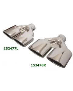 Universal Stainless Steel Chrome Plated Exhaust Tips Dual Mercedes AMG Style 255x84 L260-250 IN64