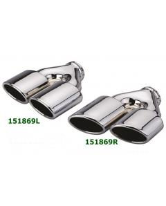 Universal Stainless Steel Chrome Plated Exhaust Tips Dual Mercedes AMG Style 226x70 L260-240 IN64