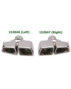 Universal Stainless Steel Chrome Plated Exhaust Tips Mercedes AMG E63 Style