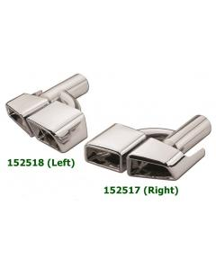 Universal Stainless Steel Chrome Plated Exhaust Tips Mercedes AMG E63 Style Offcenter