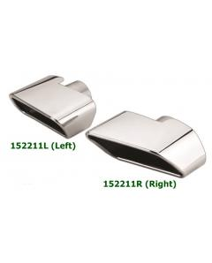 Universal Stainless Steel Chrome Plated Exhaust Tip Mercedes AMG W212 Style 176X74 L155 IN60