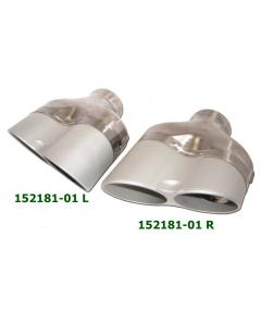 universal Stainless SteelAluminium Exhaust Tips 149x74 L200-175 IN64
