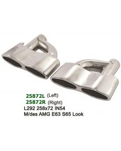 universal Stainless Steel Exhaust Tips Viper Eyes Mercedes AMG S65 Look 258x72 L292 IN54