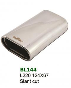 Universal Stainless Steel Exhaust Tip Oval Slant 124x67 L220