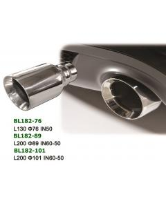 Universal Stainless Steel Exhaust Tip Round  L200 IN60-50 Φ76, Φ89, Φ101
