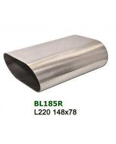 Universal Stainless Steel Exhaust Tip Oval 148x78 L220