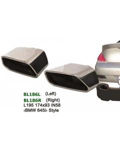 Universal Stainless Steel Exhaust Tip Square 174x93 L195 ID58