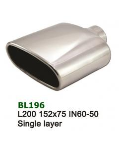 Universal Stainless Steel Exhaust Tip Oval 152x75 L200 IN60-50