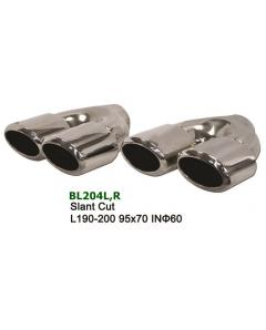 Universal Stainless Steel Exhaust Tip Dual Slant 95x70 L190-200 IN60