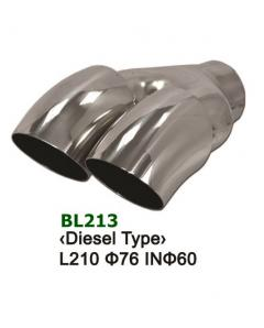 Universal Stainless Steel Exhaust Tip Dual Diesel Type 2x76 L188 IN58
