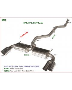 Exhaust System for OPEL GT 2.0 16V Turbo, 264hp, 07-09