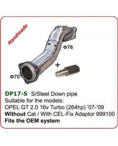 Ανοξείδωτο Downpipe OPEL GT 2.0T -00-on Downpipe 76mm without catalyst