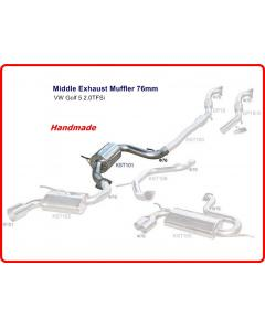 VW Golf 5 2.0TFSi Middle Exhaust Muffler 76mm