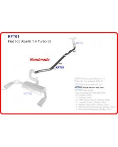 Fiat 500 Abarth 1.4 Turbo 08- Middle Exhaust Pipe 60mm