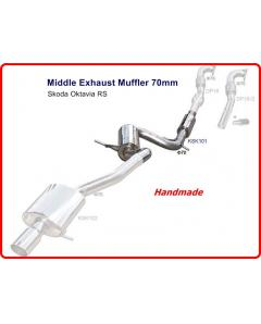 Skoda Oktavia Mk2, RS Middle Exhaust Muffler 70mm