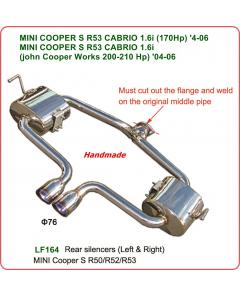 REAR SILENCER FOR ΜΙΝΙ COOPER S R53