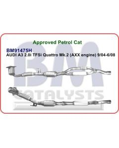 Approved petrol cat for AUDI A3 2.0i TFSi Quattro Mk.2 AXX engine 9-04 - 6-08