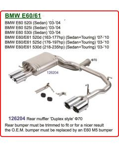 Exhaust system for BMW E60-61