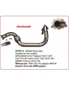 Down pipe 64mm for SMART ForFour 4G15 05- whitout cat