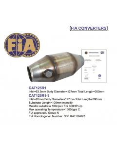 Motorsport Catalytic Converter for more than 300HP with FIA Homologation 100CPSI