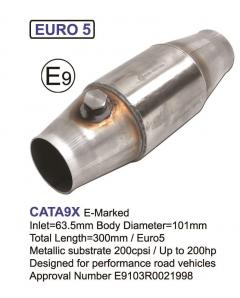 Tuning Catalytic Converter for more than 200HP, 200CPSI, Euro 5