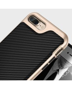 Caseology Envoy Series iPhone 7 Plus Case - Carbon Fibre Black