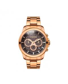 BREEZE COOLTURE DUAL TIME ROSE GOLD STAINLESS STEEL BRACELET