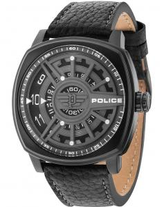 ΡΟΛΟΙ POLICE Speed Head Black Leather Strap.