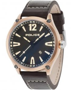 Ανδρικο Ρολοι POLICE Denton Black Leather Strap