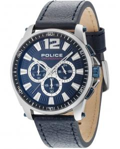 ΡΟΛΟΙ POLICE Grand Prix Chronograph Blue Leather Strap