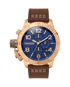 BREEZE Kryptonite Dual Time Brown Leather Strap Κωδικός Μοντέλου 110702.3