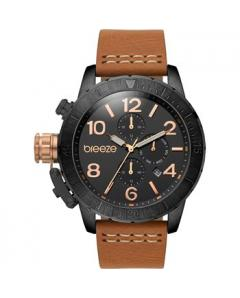BREEZE Kryptonite Dual Time Brown Leather Strap Κωδικός Μοντέλου 110702.4