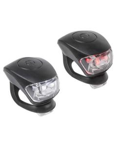Σέτ φώτα LED σιλικόνης M-WAVE Cobra IV battery flashing light set